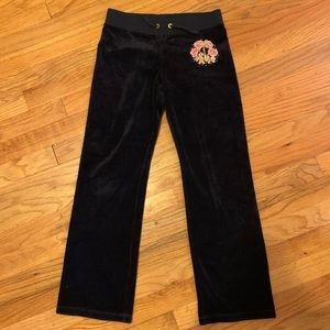 Juicy Couture velour track pants for kids large